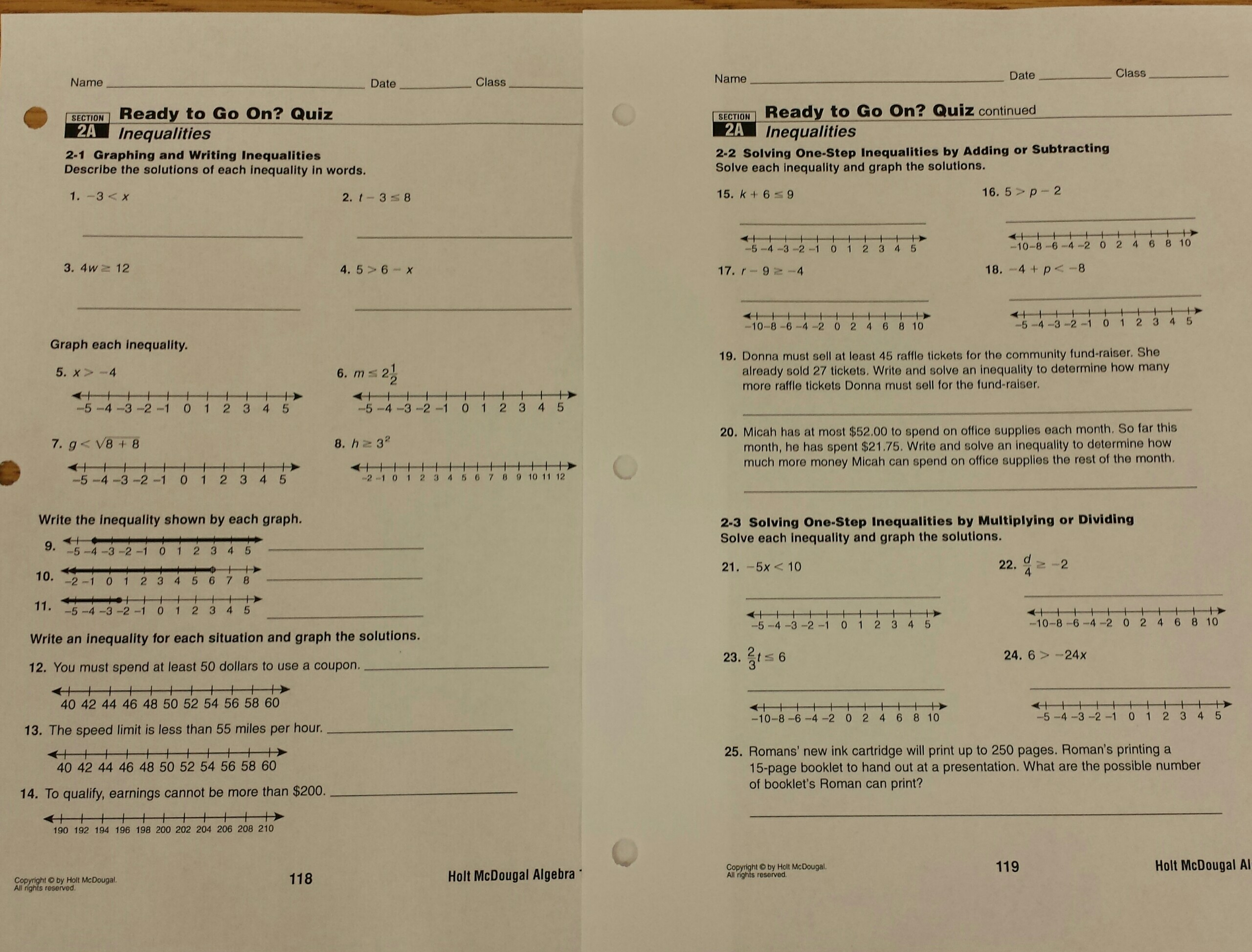 Homework Mrs Deiters Website – Glencoe Algebra 1 Worksheets Answer Key